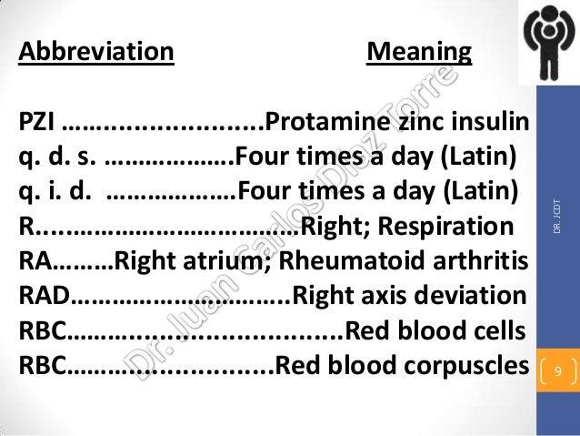 Medical abbreviations 4, may 5, 13