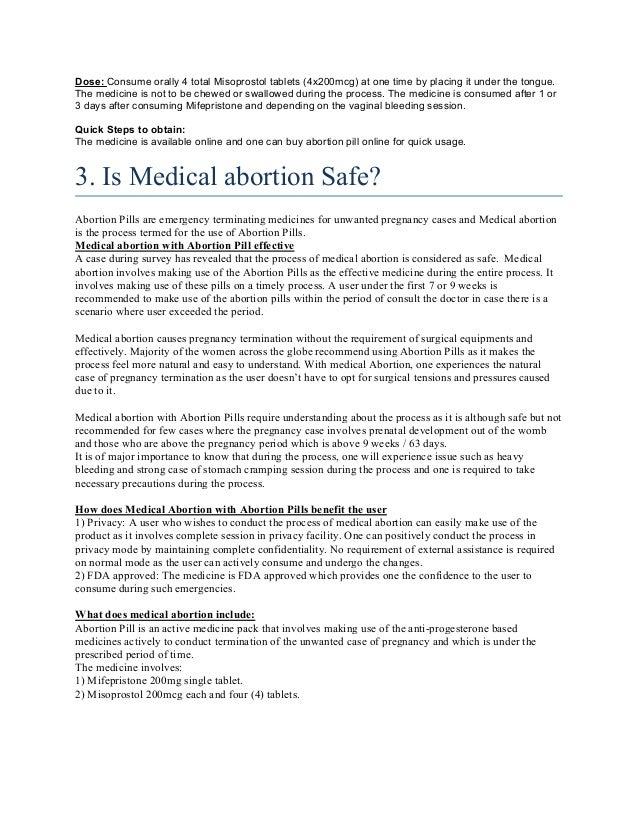 Medical abortion pill insight