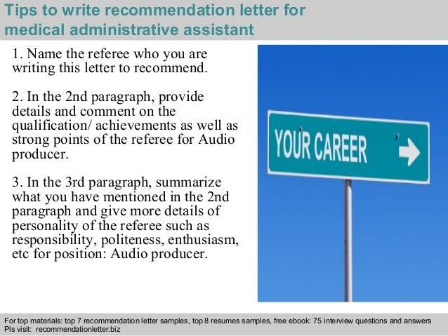 medical assistant reference letter