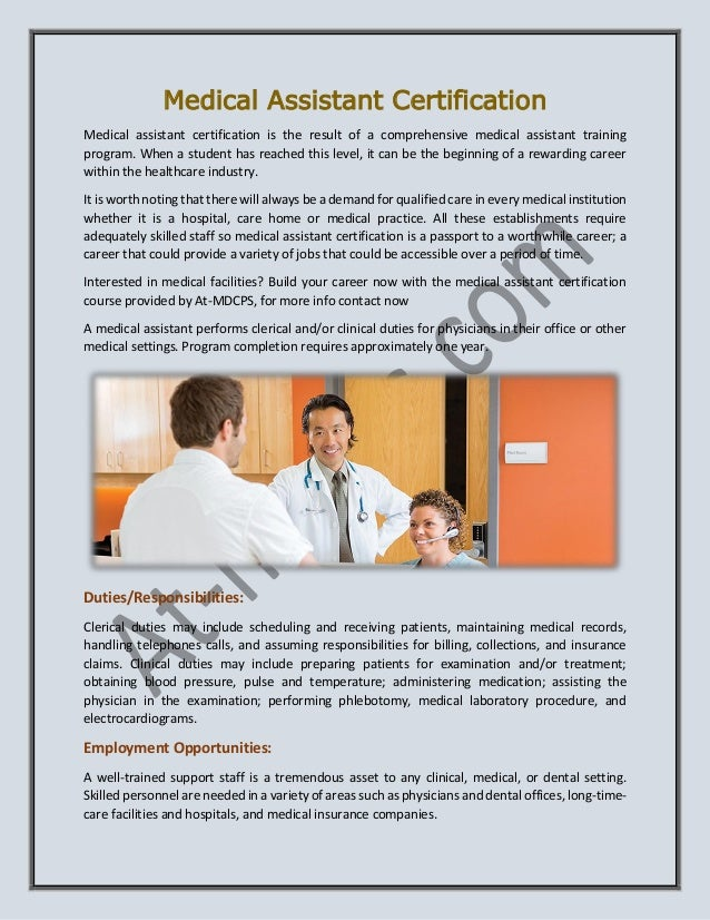 medical assistant clinical duties