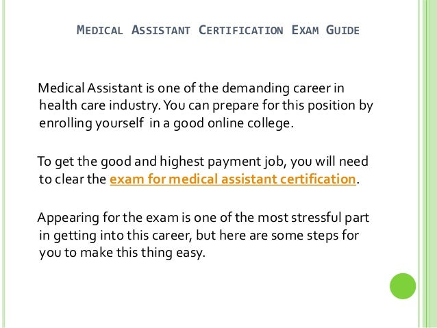 Medical Assistant Certification Test Study Guide