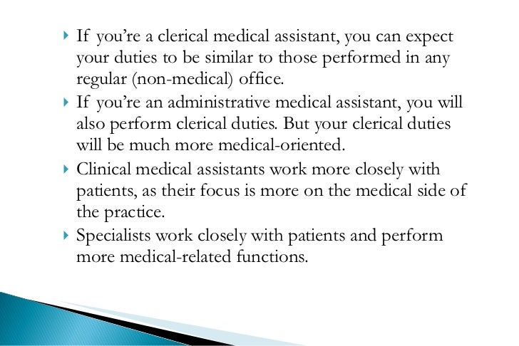 duties for medical assistant