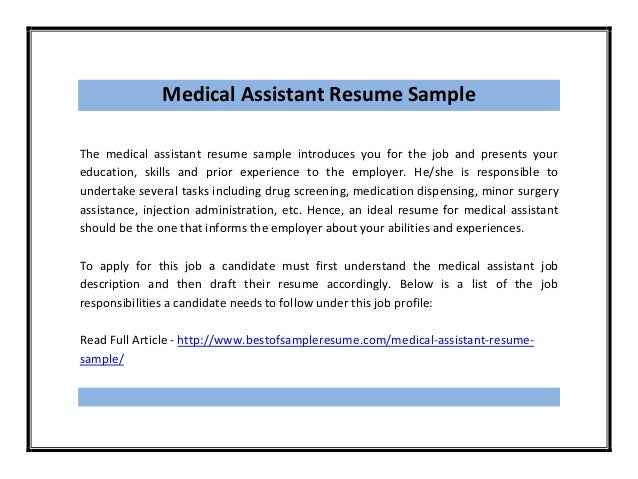Medical Administrative Assistant Resume Samples | Sample Resume