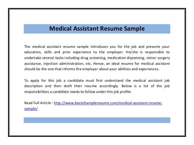 Medical Assistant Resume ...  Medical Assistant Responsibilities Resume