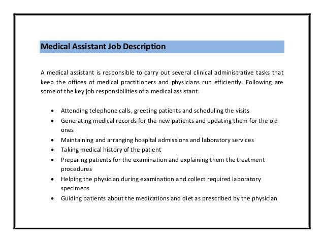 medical assistant resume sample pdf
