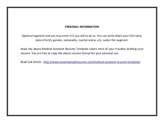 Medical Assistant Resume ? 7 Free Samples , Examples , Format