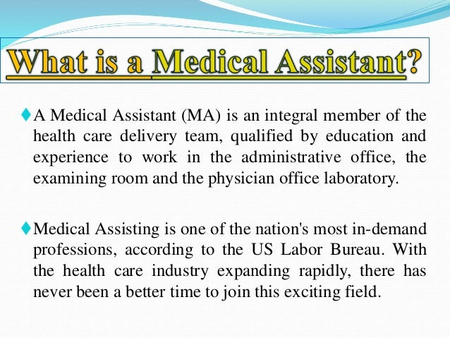 Medical Assistant  Job Description Salary And Future Scope