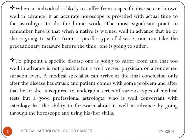 Medical astrology-Blood Cancer