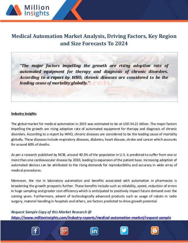 Array Of Factors Drives Students From >> Medical Automation Market Analysis Driving Factors Key Region And S