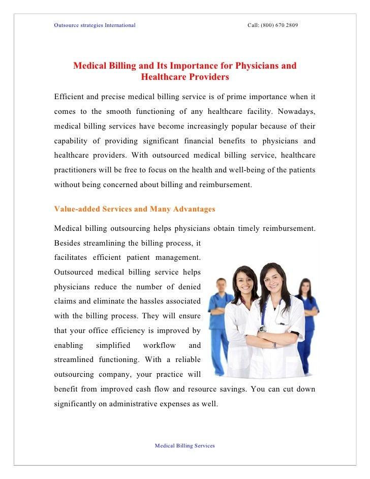 Outsource strategies International                                Call: (800) 670 2809       Medical Billing and Its Impor...