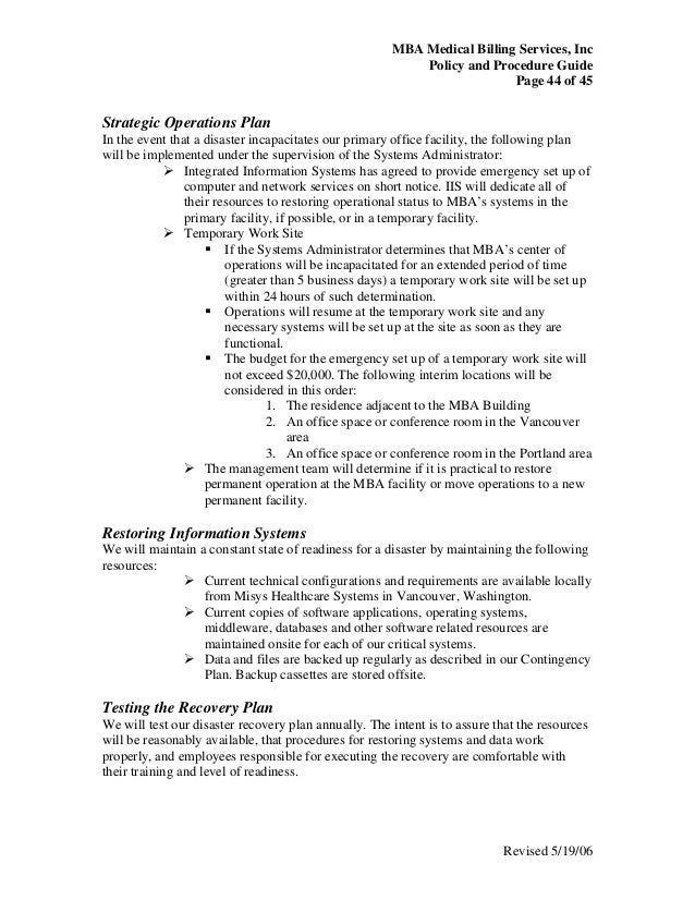 Medical billing policy  procedure guide