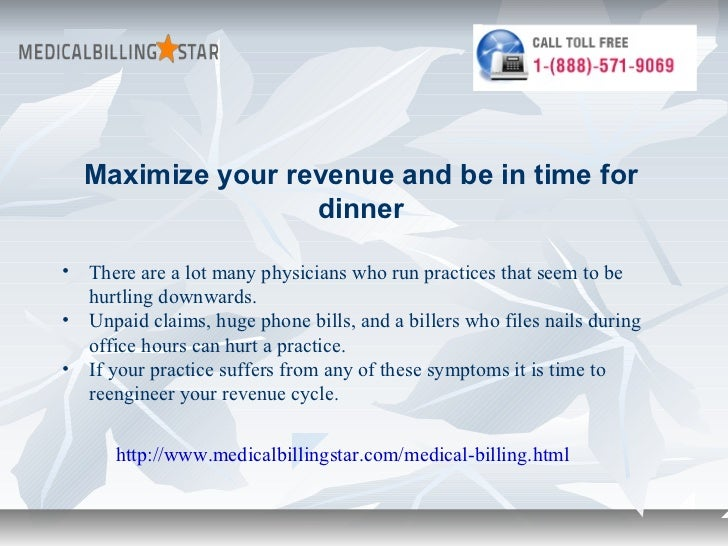 Maximize your revenue and be in time for                  dinner• There are a lot many physicians who run practices that s...