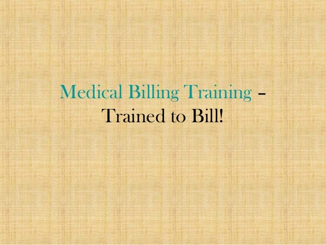 Medical Billing Training – Trained to Bill!
