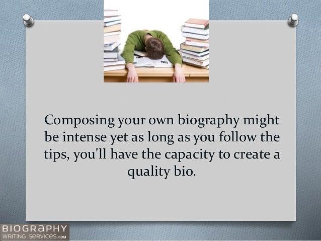 Medical Bio Tips for Writing Slide 2