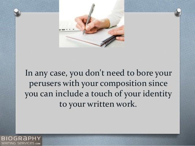 Medical Bio Tips for Writing Slide 3