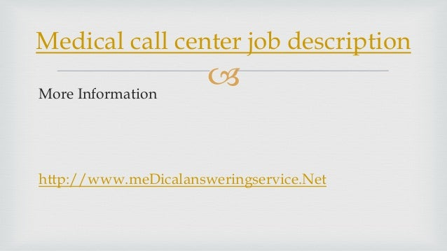 inbound call center job description