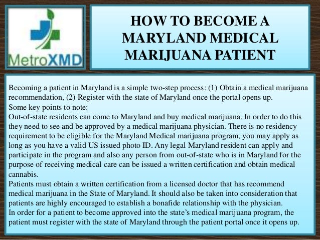 Medical Cannabis Card Maryland