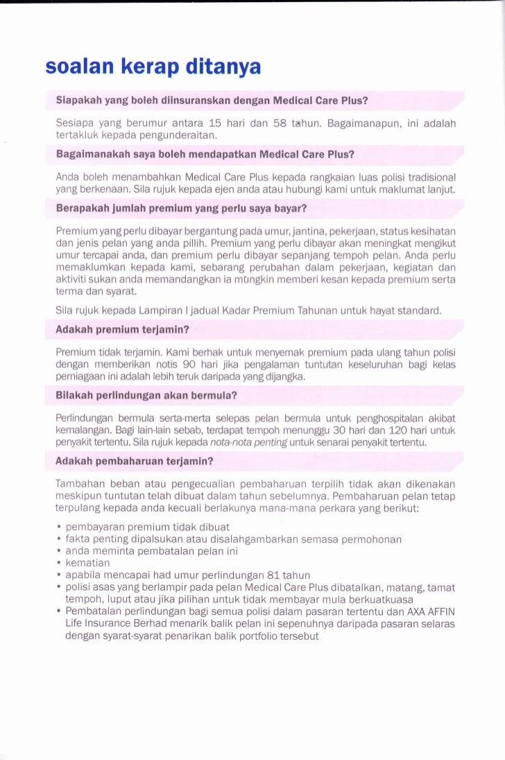 AXA AFFIN MEDICAL CARE PLUS PDF