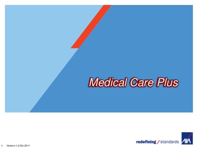 Medical Care Plus1   Version 1.0 Oct 2011