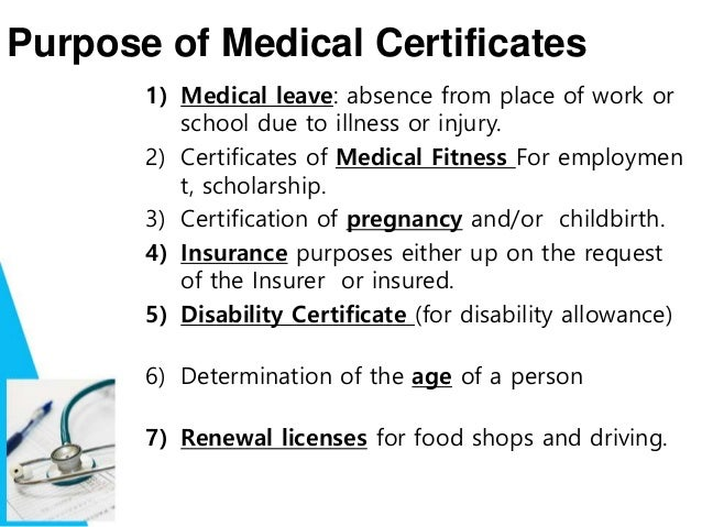 medical illness certificate