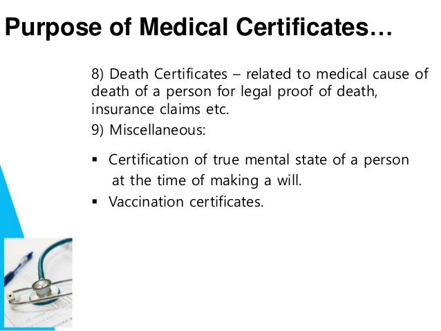 how do you get a medical certificate