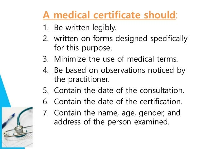 how to get medical certificate