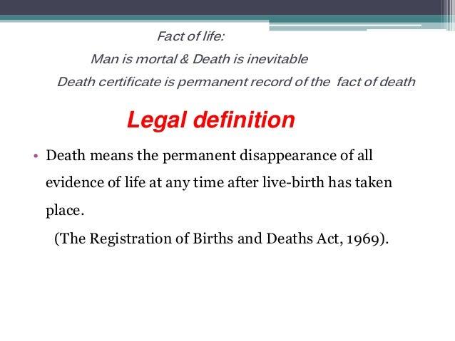 Medical certification of cause of  death Slide 3