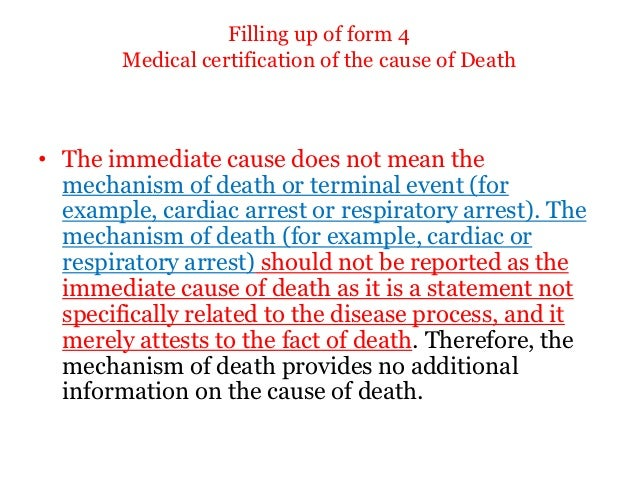 Medical certification of the cause of death 22 yadclub Choice Image