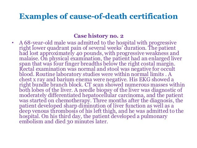Medical certification of the cause of death examples yadclub Images