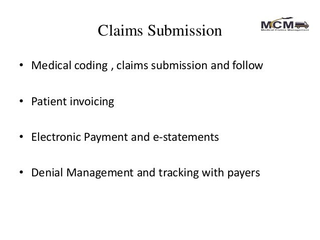 Medical claims management