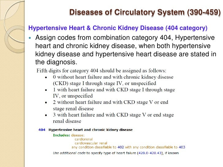 icd 9 cm presumes a cause and effect relationship between hypertension heart disease