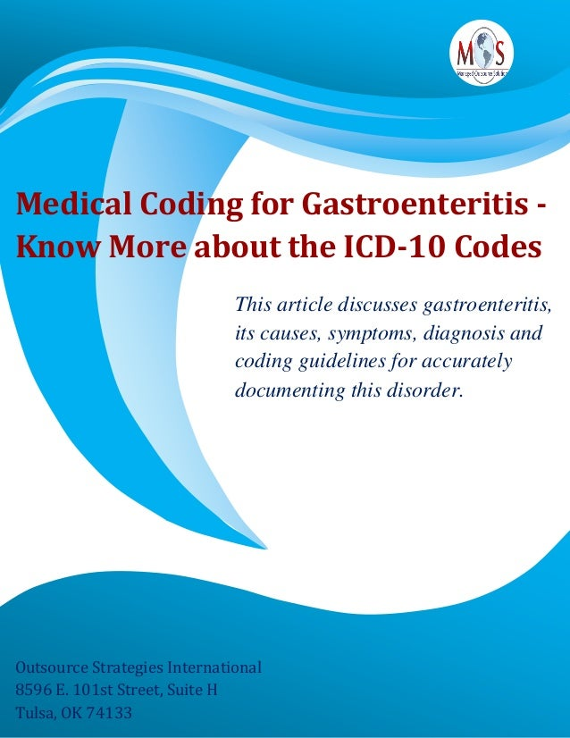 Medical Coding For Gastroenteritis Know More About The Icd 10 Codes