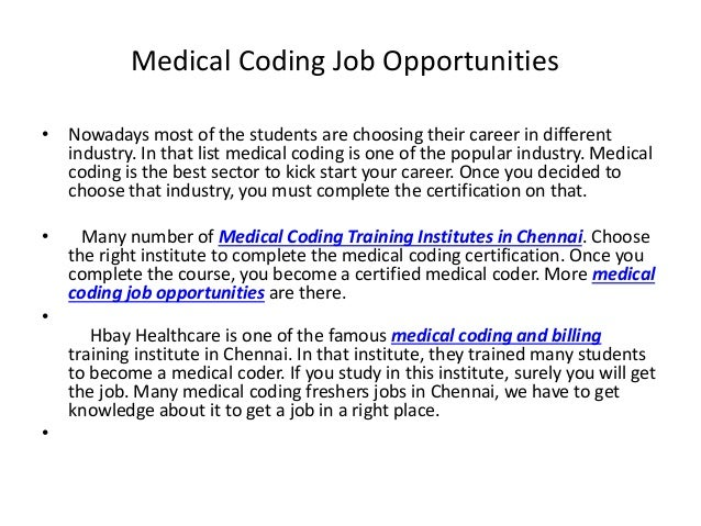 Medical Coding Jobs  Hbay Healthcare