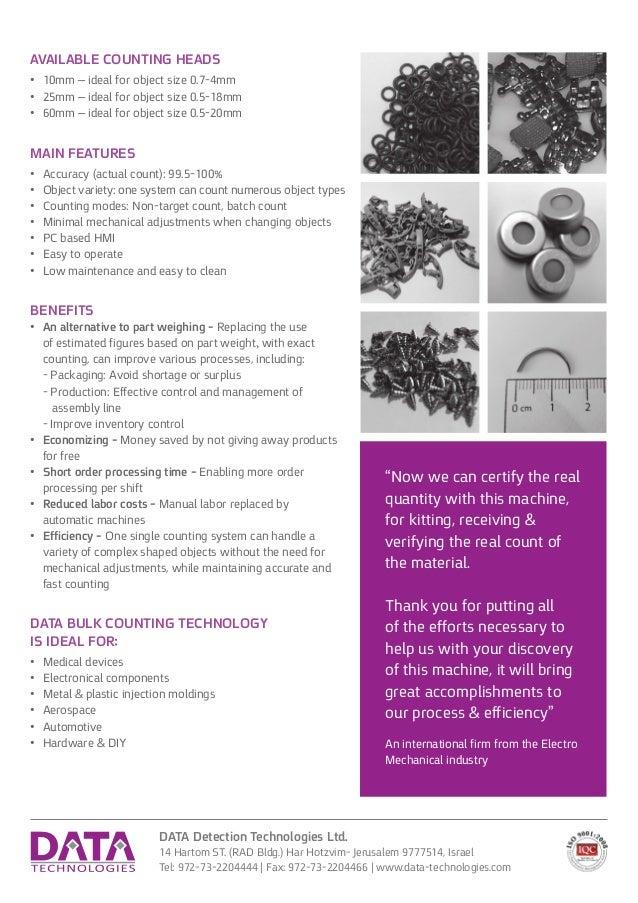 DATA Detection Technologies Ltd. 14 Hartom ST. (RAD Bldg.) Har Hotzvim- Jerusalem 9777514, Israel Tel: 972-73-2204444 | Fa...