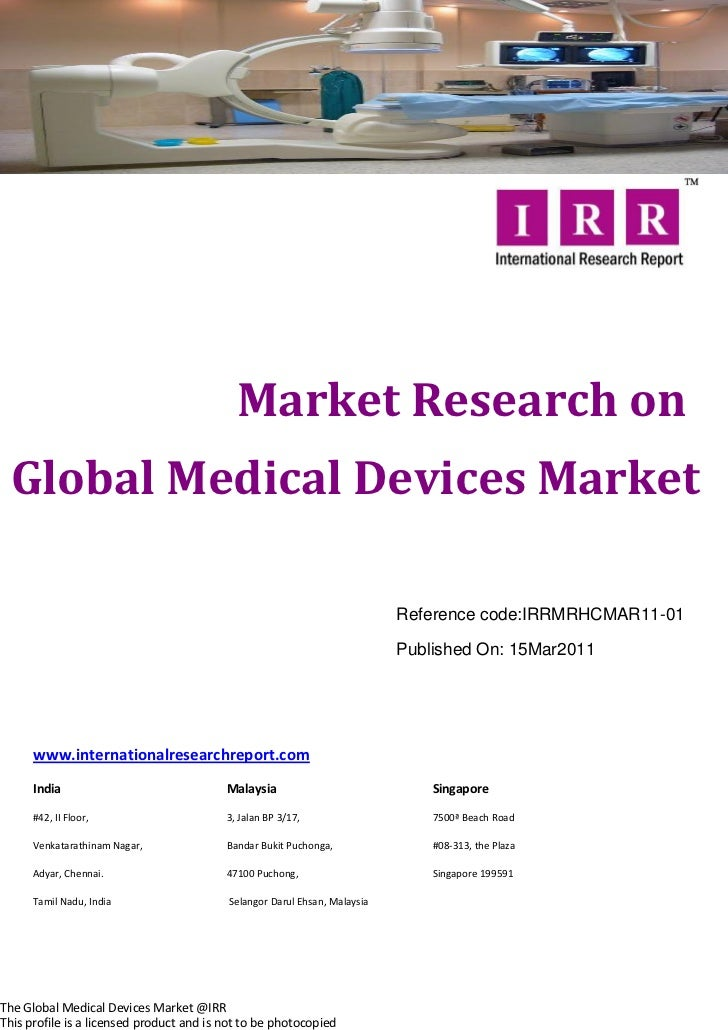 Market Research on  Global Medical Devices Market                                                                         ...