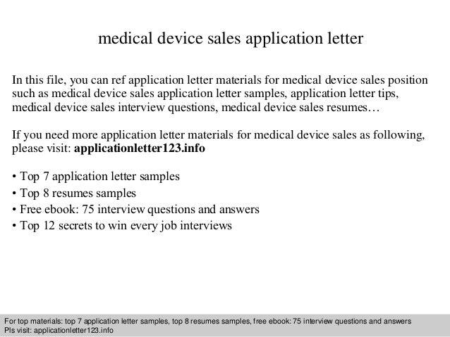 Pharmaceutical Sales Representatives Resume Medical Device