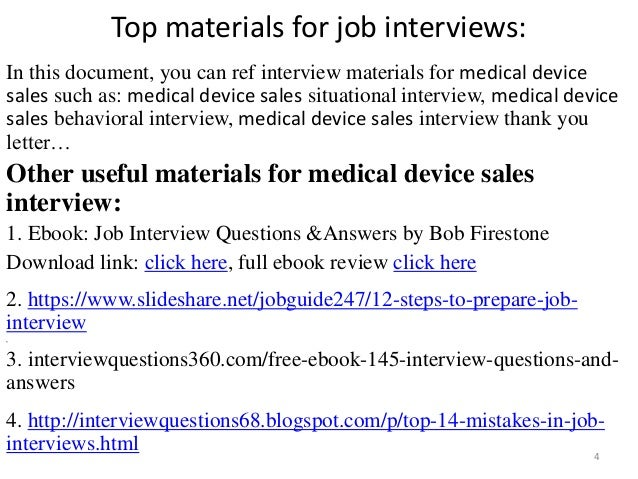 medical device sales interview 4