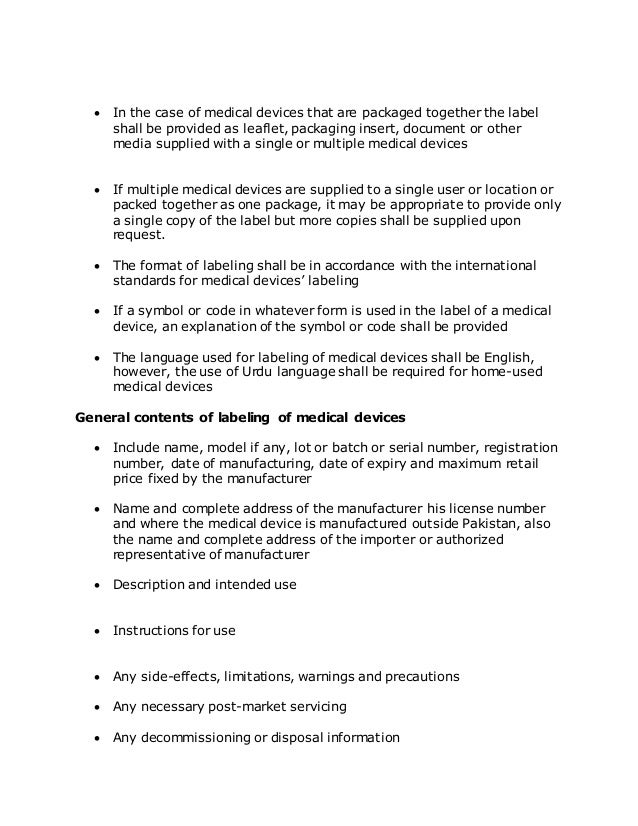 Medical Devices Rules 2015 Summary