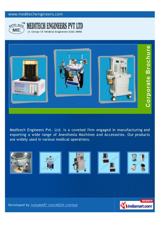 Meditech Engineers Pvt. Ltd. is a coveted firm engaged in manufacturing andexporting a wide range of Anesthesia Machines a...