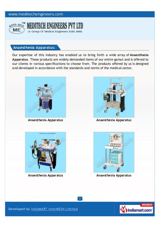 Medical Engineers (ESTD.1966), New Delhi, Anaesthesia Machines & Accessories Slide 3