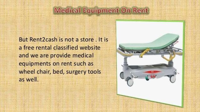 Medical equipment on rent