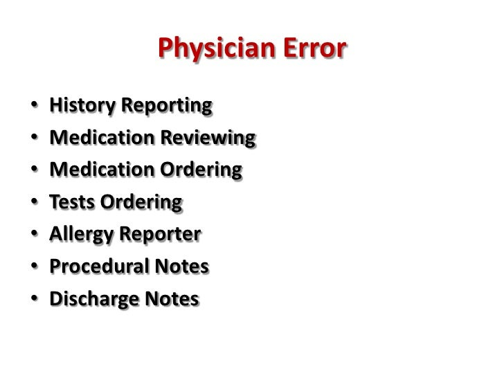 Medical errors, emergency medicine and