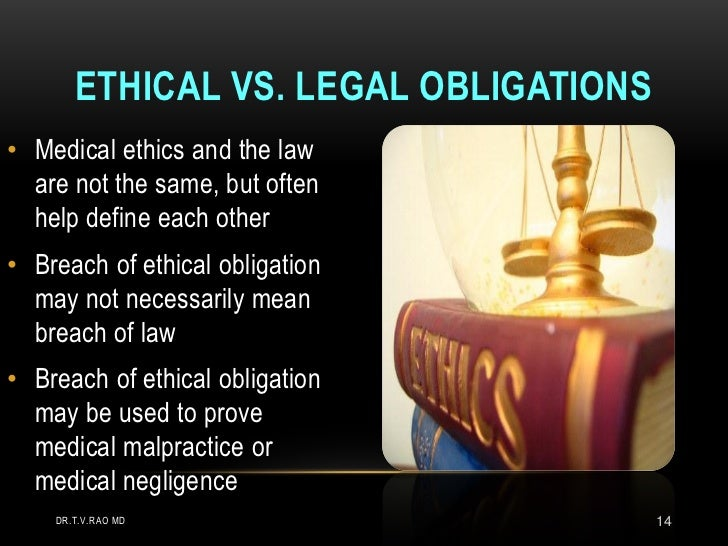ethical and legal obligations essay Some of these obligations are encoded in law perhaps more importantly, they  are enshrined in professional codes of ethics that define what it.