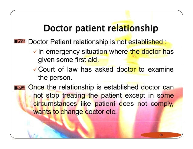 doctor patient relationship legal definition