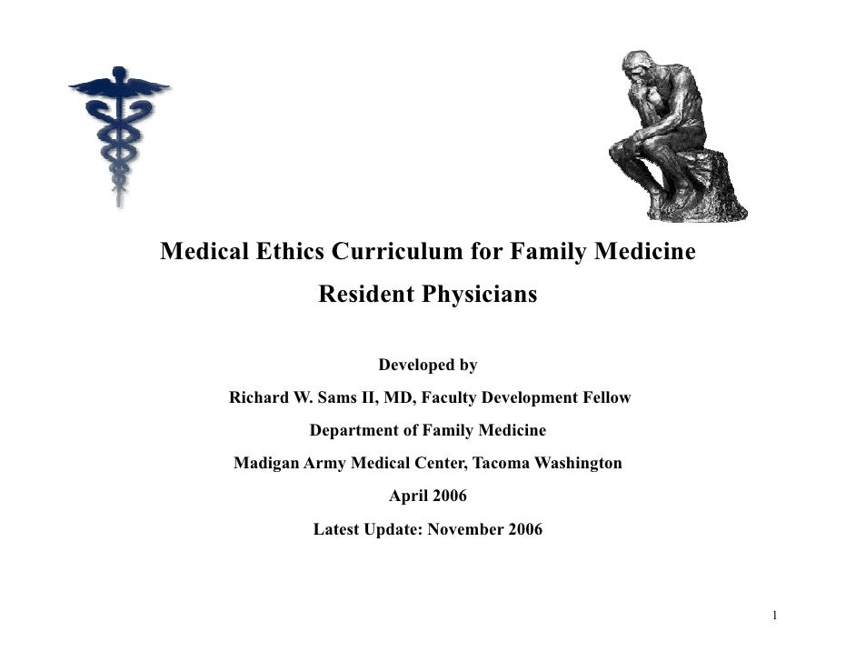 Medical ethics curriculum final20 nov06 medical ethics curriculum for family medicine resident physicians yadclub Choice Image