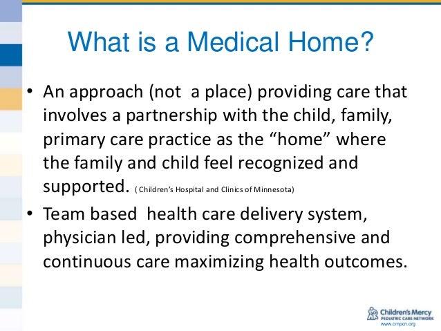 Medical home model definition