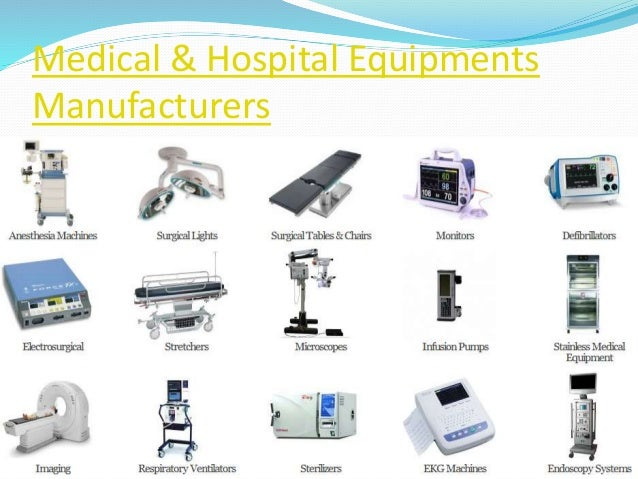 Medical & hospital equipments manufacturers