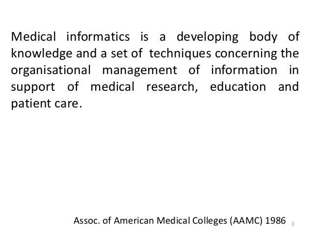 Medical informatics Slide 3