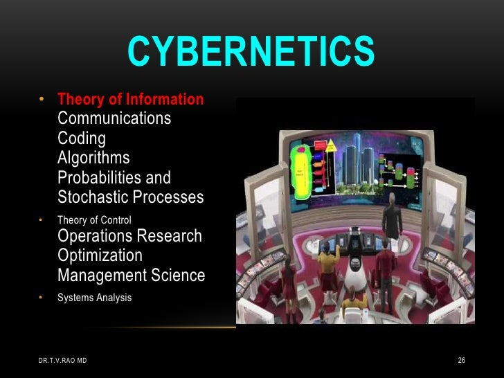 CYBERNETICS• Theory of Information     Communications     Coding     Algorithms     Probabilities and     Stochastic Proce...