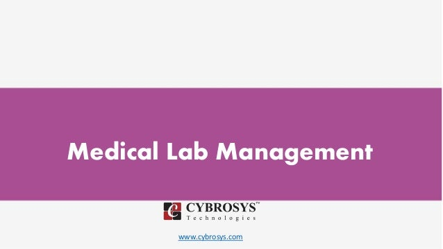 www.cybrosys.com Medical Lab Management